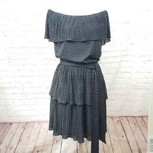 BHWM off the shoulder polka dot dress